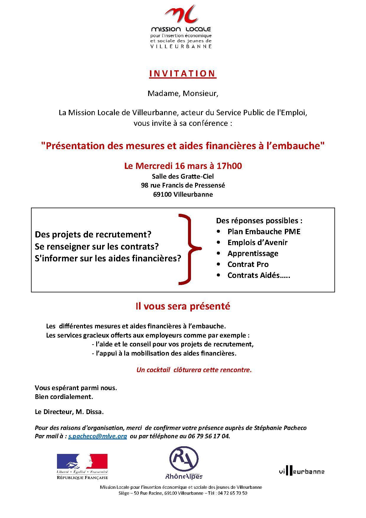 Flyer Forum Mission Locale de Villeurbanne et VHA Mars 2016