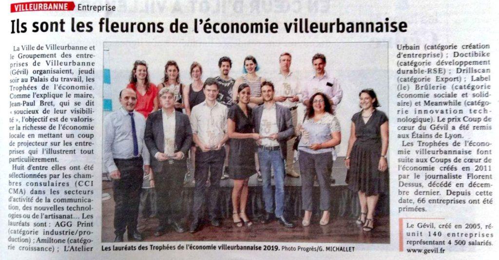 Les lauréats du trophée de l'économie de villeurbanne